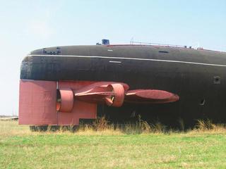 Подводная лодка встепи