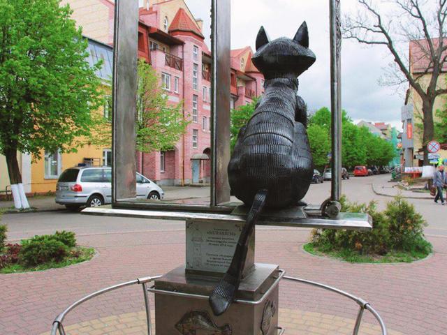 Памятник зеленоградским котам