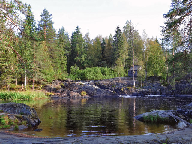 Водопад Ахвенкоски