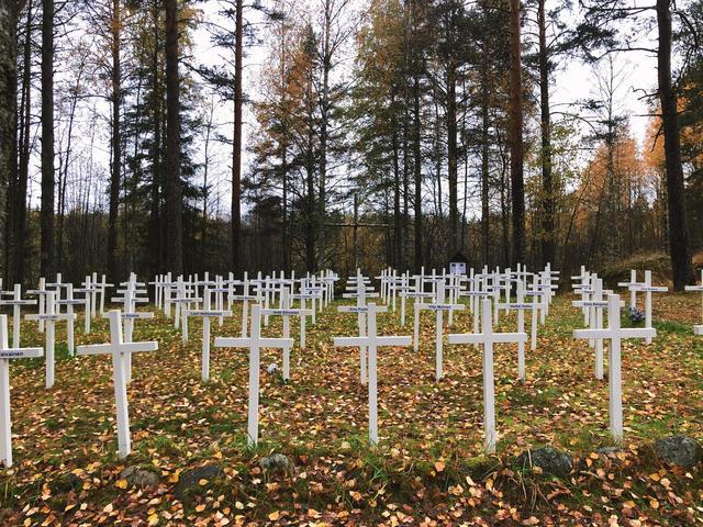 Захоронение финских воинов вЛумивааре