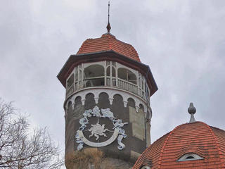 Морская водогрязелечебница сводонапорной башней